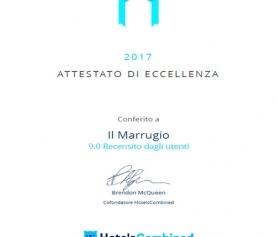 HotelsCombined riconosce Il Marrugio tra i migliori hotel in Italia e in Viterbo.
