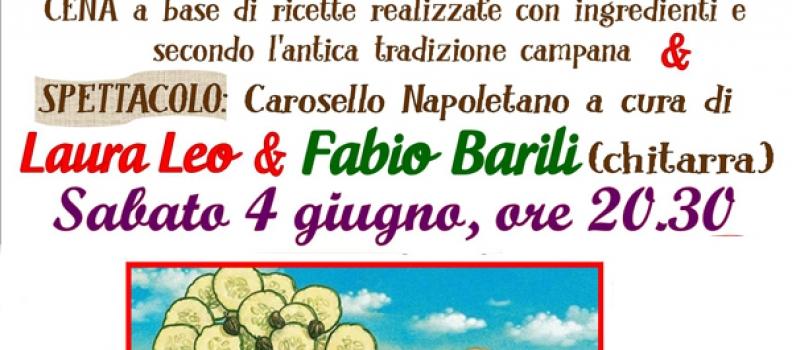 """Da Regione in Regione"""": GNAMM JA'. Un """"ponte"""" ai sapori di Campania con la """"cena-spettacolo"""" de Il Marrugio"""