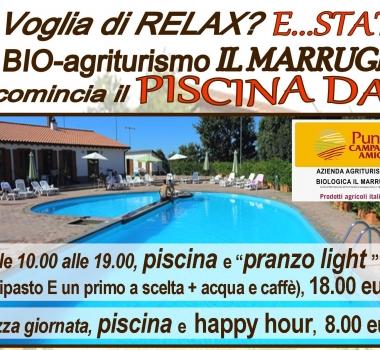 Voglia di relax? .. state al bio agriturismo il Marrugio: ricomincia il piscina DAY
